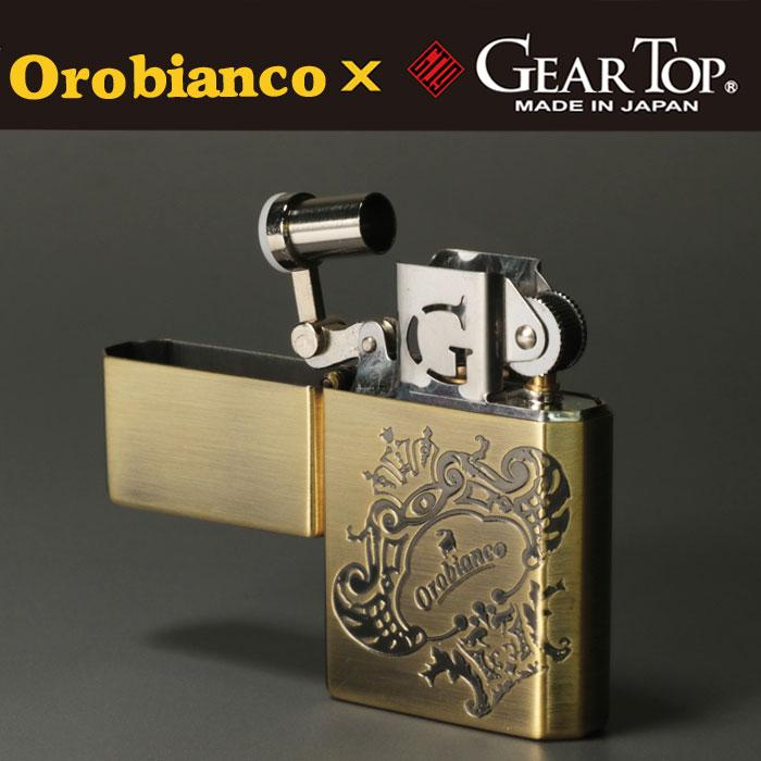 Orobianco xGEAR TOPコラボ 国産オイルライター  真鍮古美 エッチング ORG-1BB 画像1