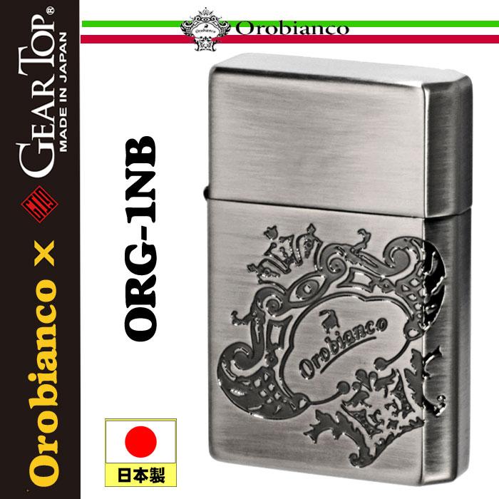 Orobianco xGEAR TOPコラボ 国産オイルライター  ニッケル古美 エッチング ORG-1BB 画像1