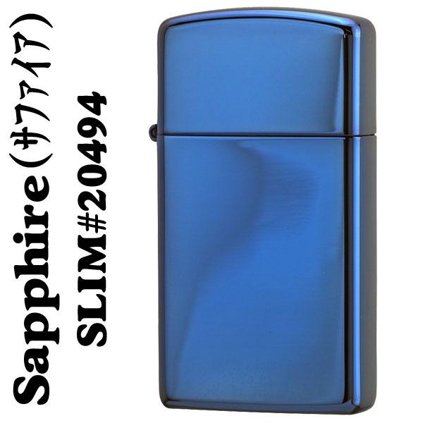 >【ジッポ】ZIPPO青色サファイアジッポスリム画像