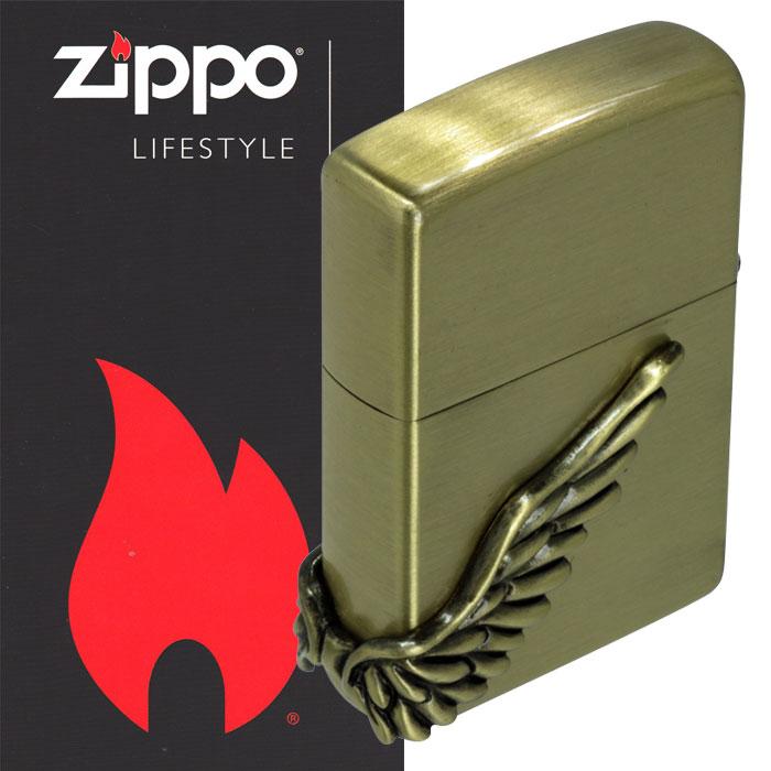 zippo(ジッポーライター)エンジェルウイング サイドメタル 天使の翼 ブラス古美 PAW-3BB 画像5