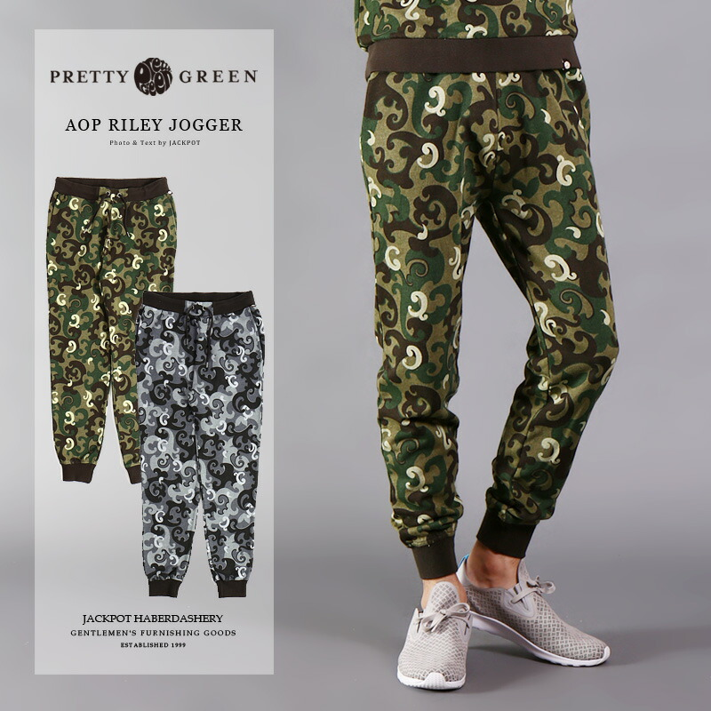 ジョガー RILEY PRETTY GREEN/ GSXG65648758 [メンズ ボトム パンツ ジョガー ジョガーパンツ 柄物 おしゃれ かっこいい 紳士 �服 �物 � 夏服 夏物 夏 大人 彼氏 プレゼント] プリティーグリーンAOP [SALE]