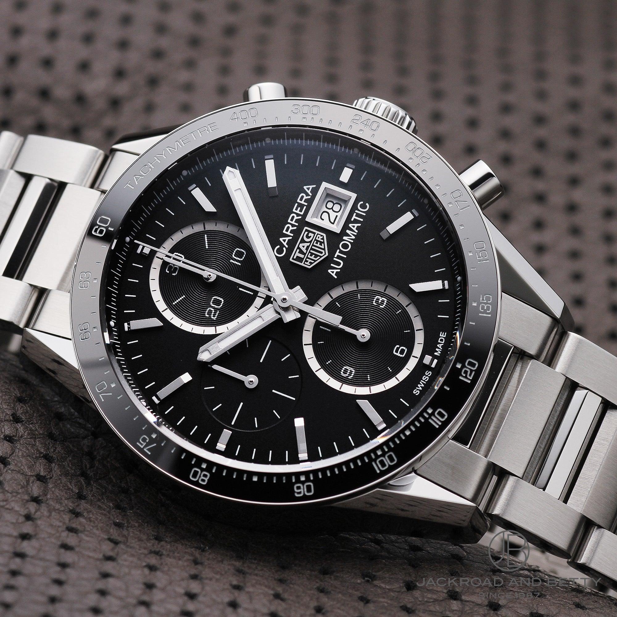 buy popular 1ac4a b179a Tag ホイヤー TAG HEUER カレラクロノグラフキャリバー 16 CV201AJ.BA0715 new article clock men