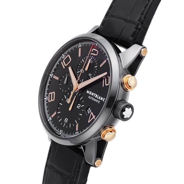 7f58fa7be8fe1 MONTBLANC Time Walker Dual Carbon Automatic chronograph Ref.105805  NEW