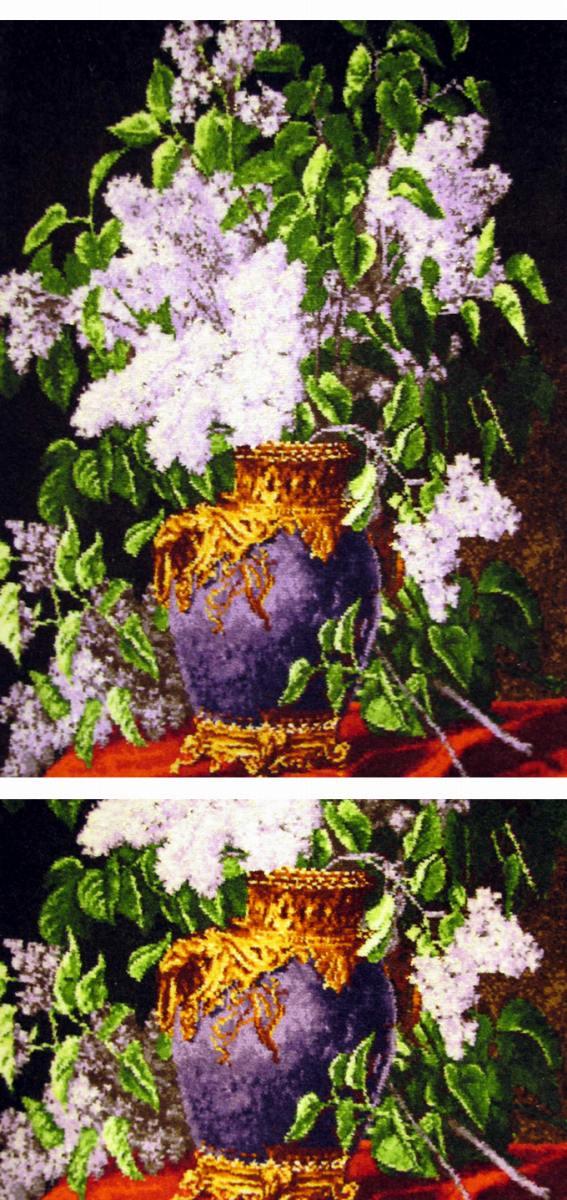 【額入りペルシャ絨毯】 【芸術品】 額入りコルク&シルク手織り ペルシャ絨毯 タブリーズ産  手織りペルシャ絨毯(額付)景色 【送料無料】