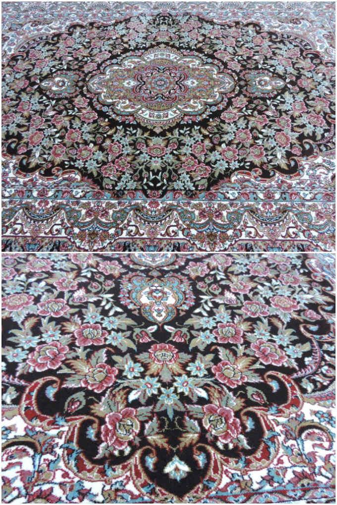 ペルシャ 絨毯カーペット ラグ 50万ノット ウィルトン織り ペルシャ絨毯の本場 イラン イスファハン産デザイン 大型サイズ:300cm×200cm 【本物保証】【高品質/高級】【送料無料】