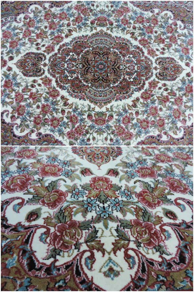 ペルシャ 絨毯カーペット ラグ 50万ノット ウィルトン織り ペルシャ絨毯の本場 イラン イスファハン産デザイン 中型サイズ:230cm×150cm 【本物保証】【高品質/高級】【送料無料】