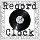 レコードクロック掛け時計