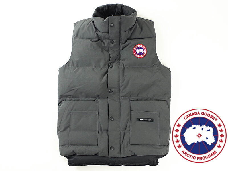 for whole family 5708c 75cf2 canada goose freestyle vest grey ... 7358820d7f33