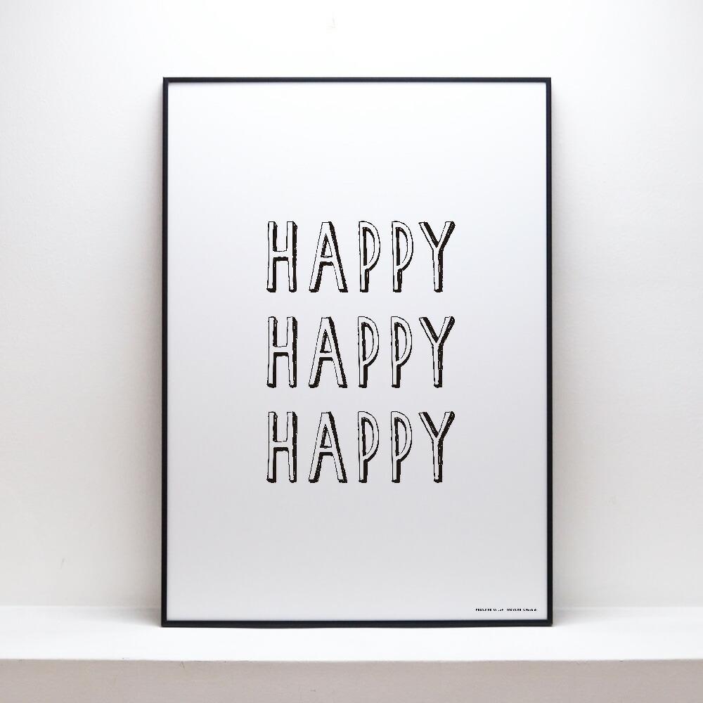 楽天市場】【happyhappyhappy】ポスター b2 北欧 アートポスター