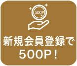 会員登録で500P!