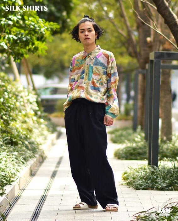 シルクシャツ1