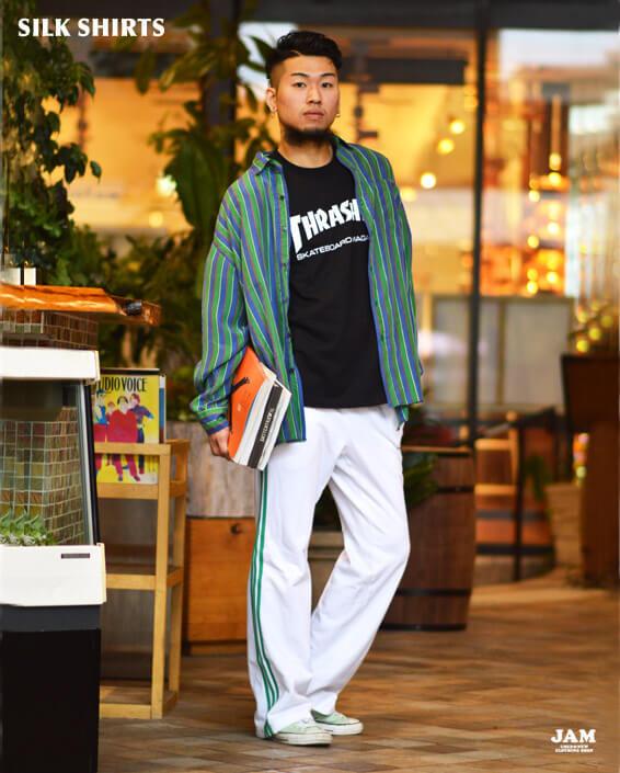 シルクシャツ4