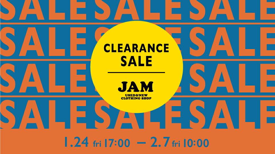 1月24日(金)17:00より『CLEARANCE SALE(クリアランスセール)』を実施