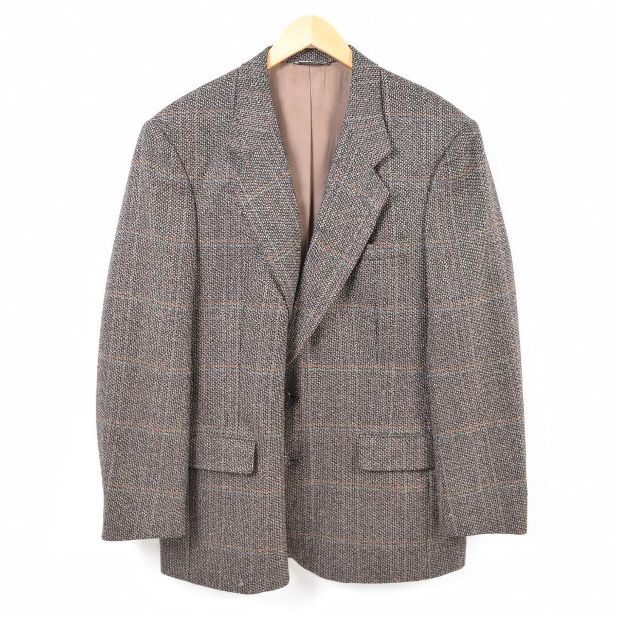 new styles bd6d0 fd21a 80年代 クリスチャンディオール Christian Dior MONSIEUR チェック柄 テーラードジャケット USA製 メンズM ヴィンテージ  /wao0576 【171215】