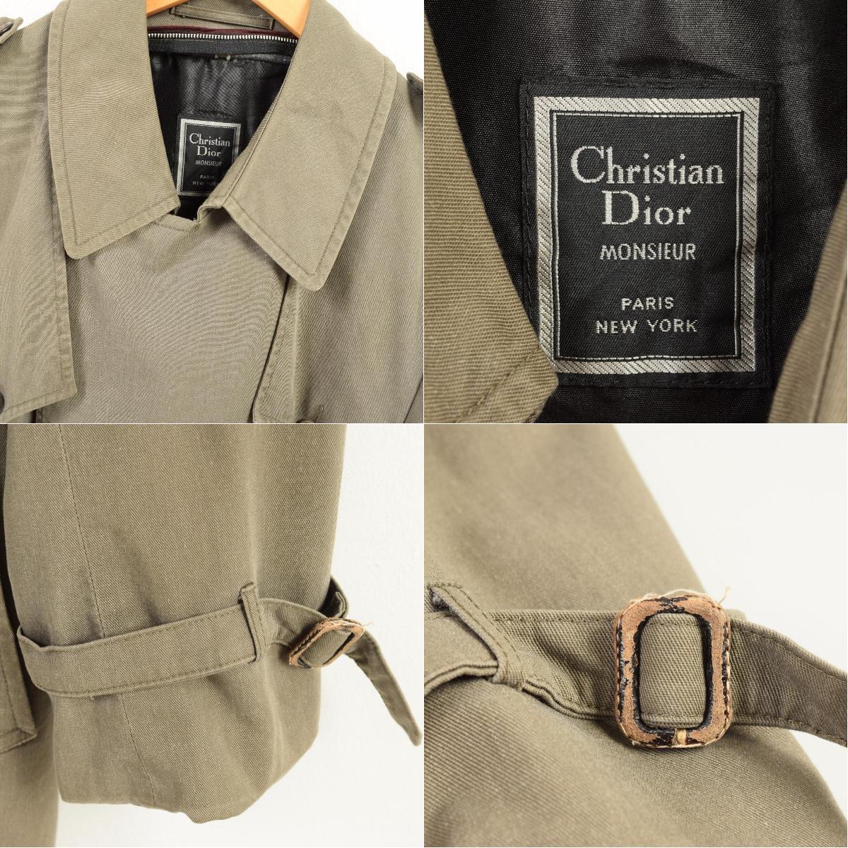 best service bf67c 0eed5 クリスチャンディオール Christian Dior トレンチコート メンズL /wan7972 【180122】