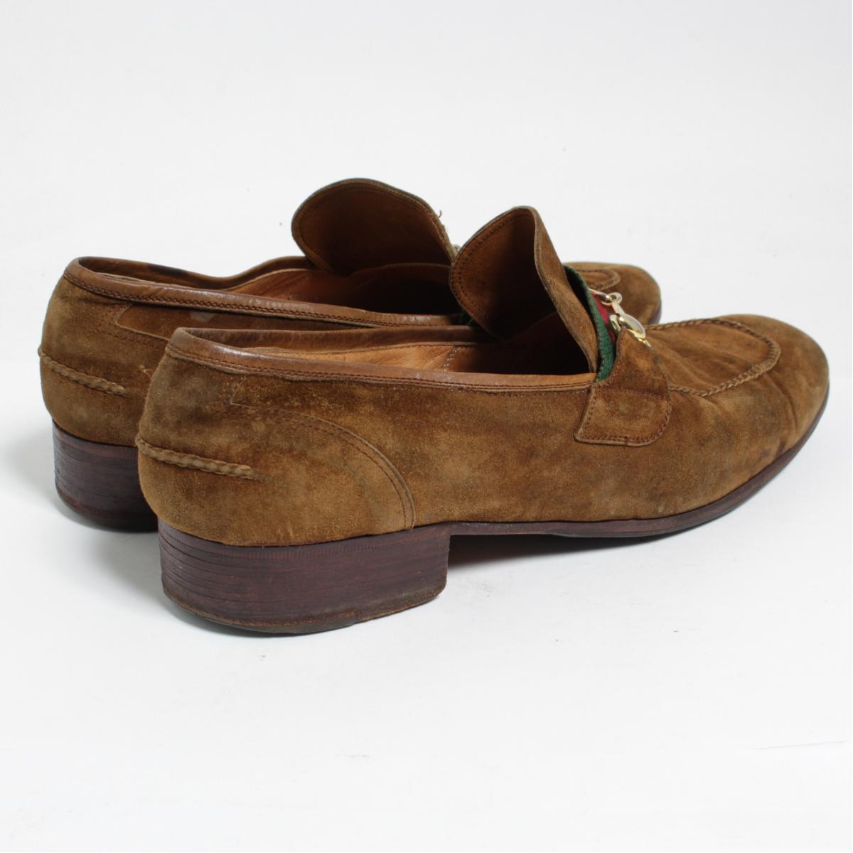 sports shoes 5afd4 c9fd8 70年代 グッチ GUCCI オールドグッチ シェリーライン ホースビットローファー イタリア製 メンズ27.5cm ヴィンテージ /bom8046  【180517】