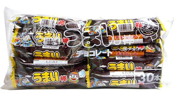 うまい棒 チョコレート味 30本入【イージャパンモール】