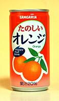 ★まとめ買い★ サンガリア たのしいオレンジ 190g缶 ×30個【イージャパンモール】