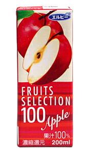 ★まとめ買い★ エルビーフルーツセレクション 100% アップル 200ML ×24個【イージャパンモール】