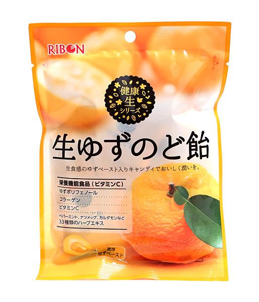 リボン 生ゆずのど飴65g【イージャパンモール】