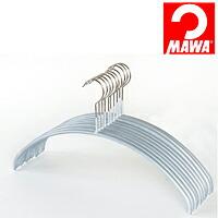 MAWA(マワ)社 10本セット マワハンガー 滑らないハンガー レディースライン シルバー【代引不可】【日用品館】