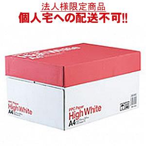 【送料無料】【A4サイズ】PPC PAPER High White A4 500枚×10冊/箱【法人(会社・企業)様限定】【イージャパンモール】