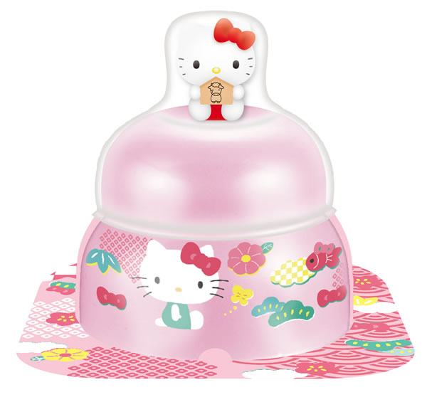 【鏡餅】サトウ 小飾りキティマスコット付 ピンク 66g【イージャパンモール】