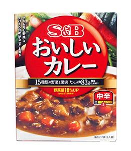 SBなっとくのおいしいカレー 中辛180g【イージャパンモール】