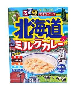 ハチ るるぶ×ハチ 北海道ミルクカレー 200g【イージャパンモール】