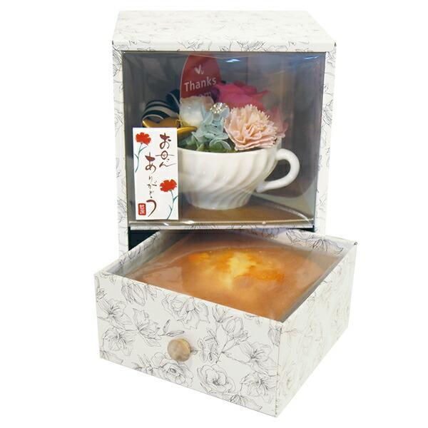 【送料無料】【母の日】母の日BOXプリザ&パウンドセット AMB-11【代引不可】【ギフト館】