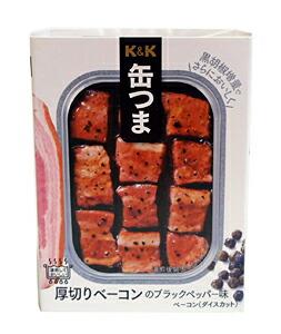 K&K缶つま厚切りベーコンのブラックペッパー味105g【イージャパンモール】