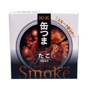 K&K 缶つまSmokeたこ 50g【イージャパンモール】