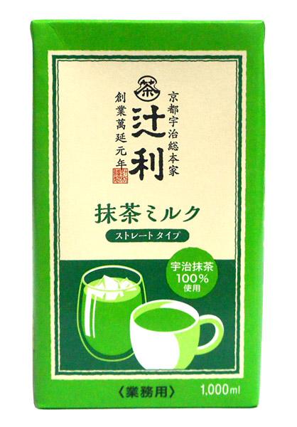 片岡 辻利 リキッド抹茶ミルク(ストレート) 1L【イージャパンモール】