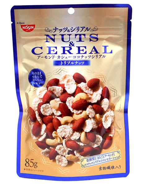 ★まとめ買い★ 日清シスコ NUTS&CEREALトリプルナッツ85g ×8個【イージャパンモール】