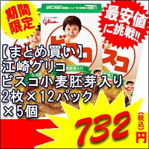グリコ ビスコ 小麦胚芽入り 2枚×12パック