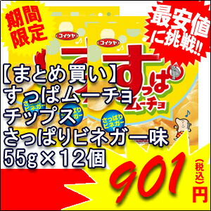 湖池屋 すっぱムーチョチップスさっぱりビネガー味×20個