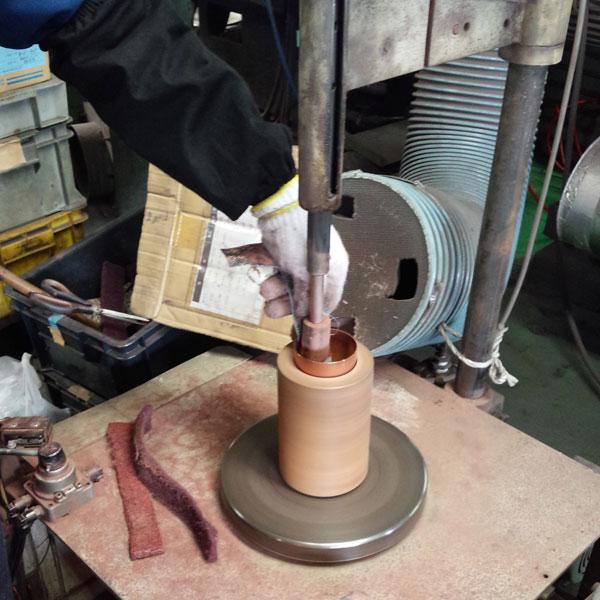 銅製タンブラー 華 24金メッキ 2個セット