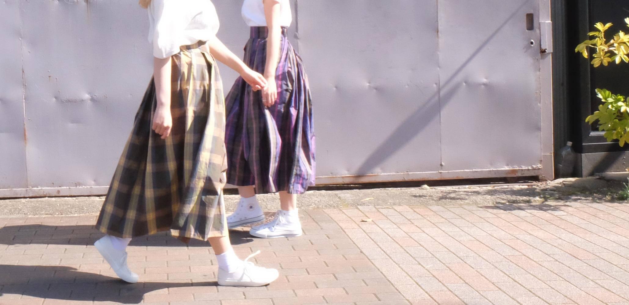 神戸・山の手フレアチュールスカート