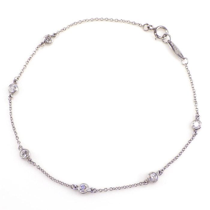 ティファニー ブレスレット バイザヤード PT950 6ポイント ダイヤモンド 【中古】 149,600円 送料無料