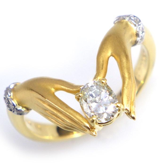 カレライカレラ リング ハンド K18YG ダイヤモンド 12.5号【中古】 198,000円 送料無料