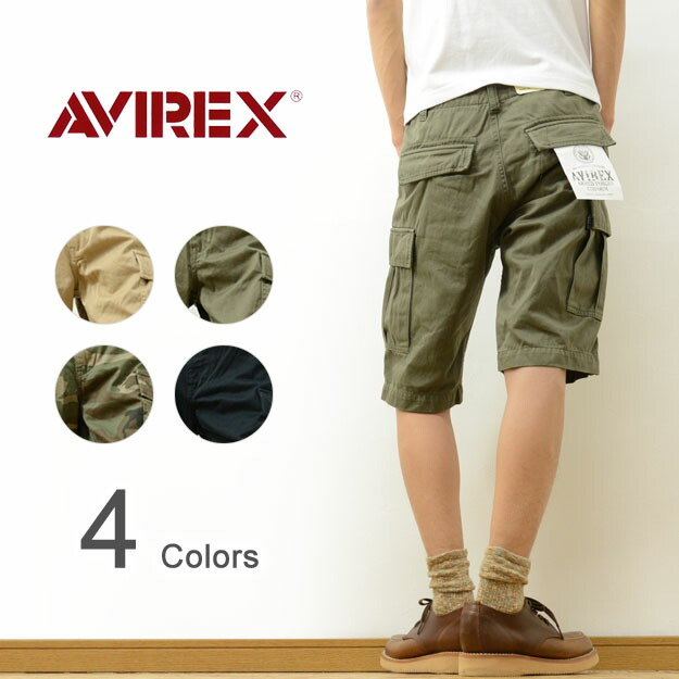 f9171f9b85a AVIREX (Avi Rex) 6 pocket military F Teague cargo shorts men red-throated  loon Rex Aero chino pants half underwear short pants shorts forces Bakery  ...