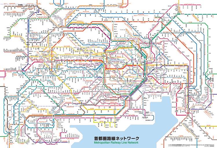 BEV-61-421 路線図 首都圏路線ネットワーク 1000ピース