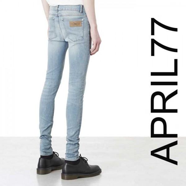 april77(エイプリル77)APRIL77 JOEY Ronnie Ashbury スキニー ジーンズ ライトブル...