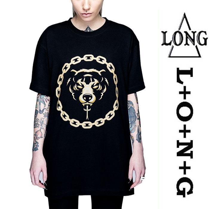 LONG CLOTHING ロングクロージング MISHKA ミシカ コラボ Tシャツ ゴールド DEATH ...