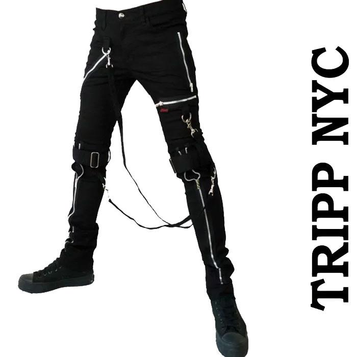 ボンテージパンツ TRIPP NYC (トリップニューヨーク)ZIPスキニー ボンデージパンツ...