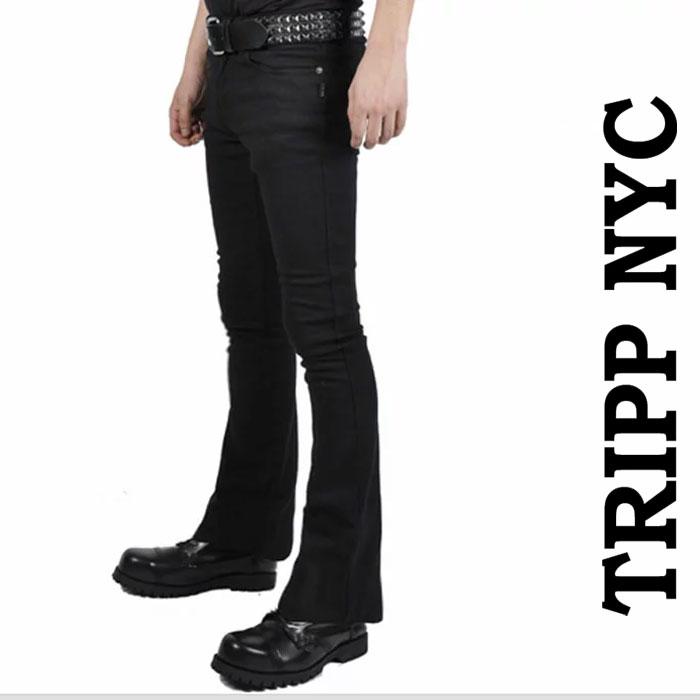 ブーツカット ジーンズ tripp nyc ブラック ジーンズ/トリップニューヨーク パンク...
