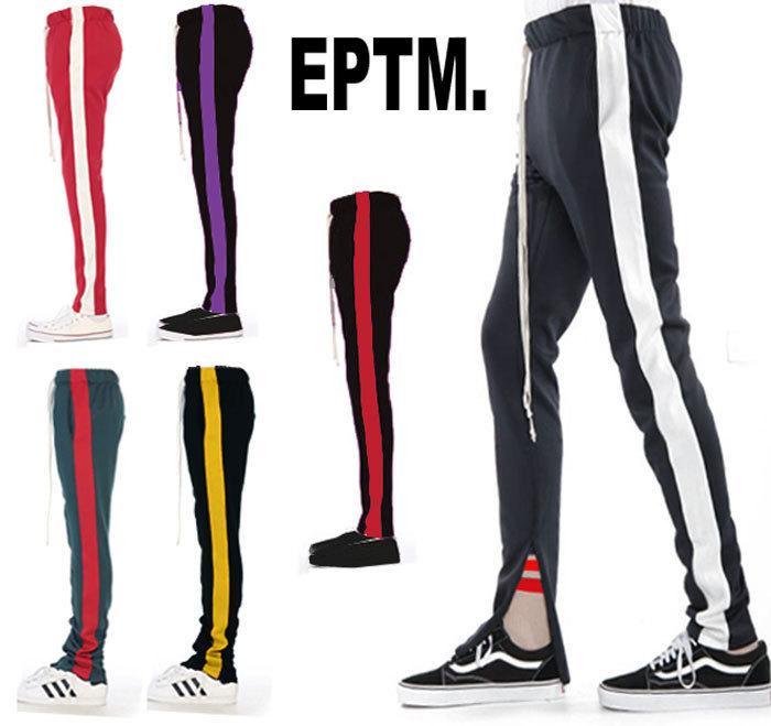 eptm トラックパンツ スエットパンツ EPTM エピトミ ライン パンツ スキニー メン...