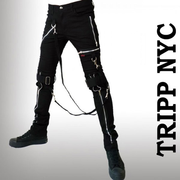 スキニー ボンテージパンツ TRIPP NYC (トリップニューヨーク)ZIPスキニー ボンデ...