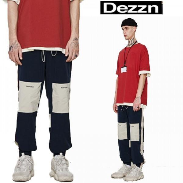 トラックパンツ Dezzn(ディズーン)ジョガーパンツ サイドラインパンツ ネイビー か...