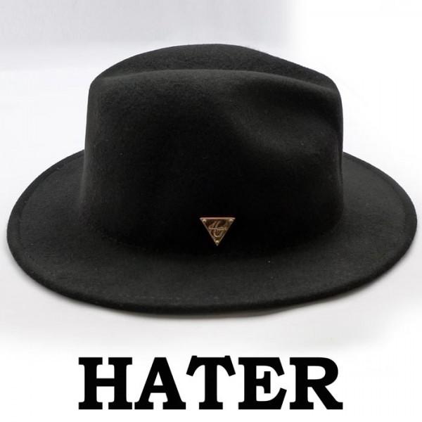 HATER SNAPBACK(ヘイタースナップバック)フェルト 中折れ帽 中折ハット ウール帽...